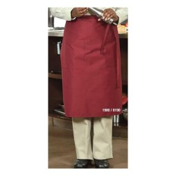 Burgundy Long Apron