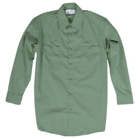 green long sleeve work shirt