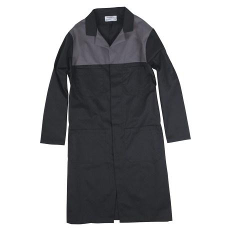 Two Tone Long Shop Coat