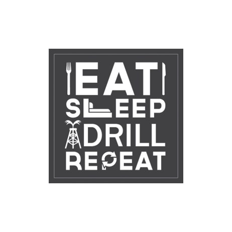Eat Drill Repeat Sticker