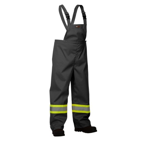 black safety rain overalls