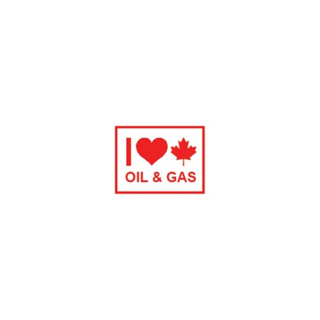 Love Canadian Oil and Gas Sticker