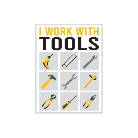 Work with Tools Sticker