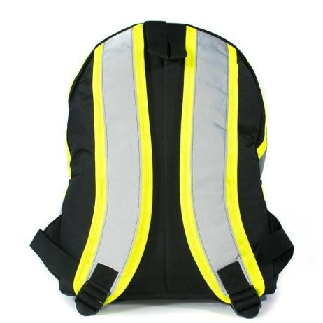 black hi vis backpack back