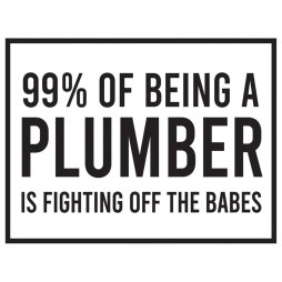 plumber joke sticker