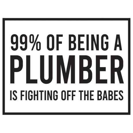 plumber joke sticker