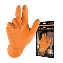 orange nitrile gloves 10 pack