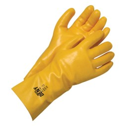 yellow pvc glove