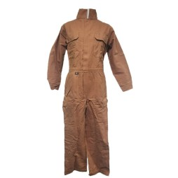 brown fr coveralls