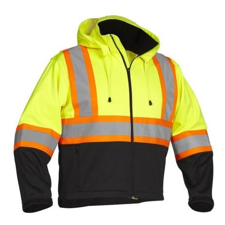 lime rain jacket