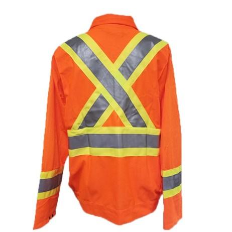 orange traffic jacket back