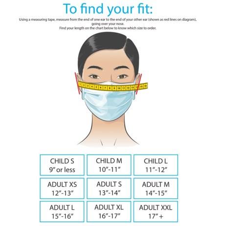 mask size chart