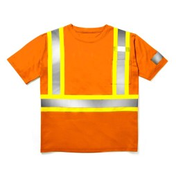orange safety tshirt