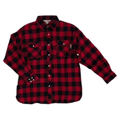 red plaid work shirt