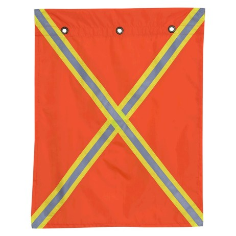 flag with reflective tape