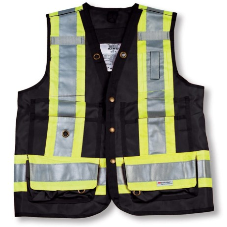 black surveyor vest