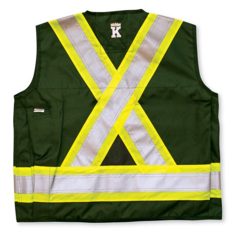 forest green surveyor vest back