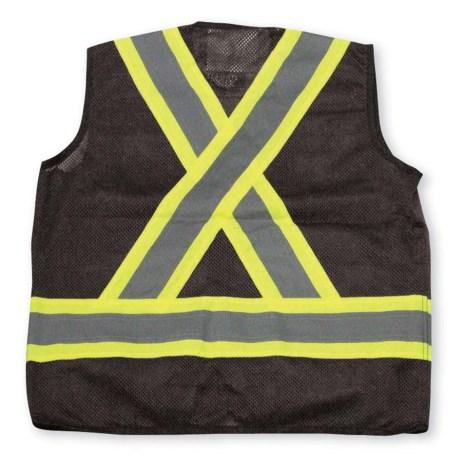 black mesh vest back