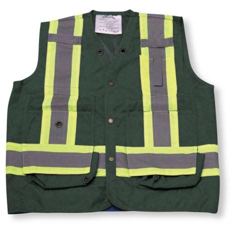 forest green mesh vest