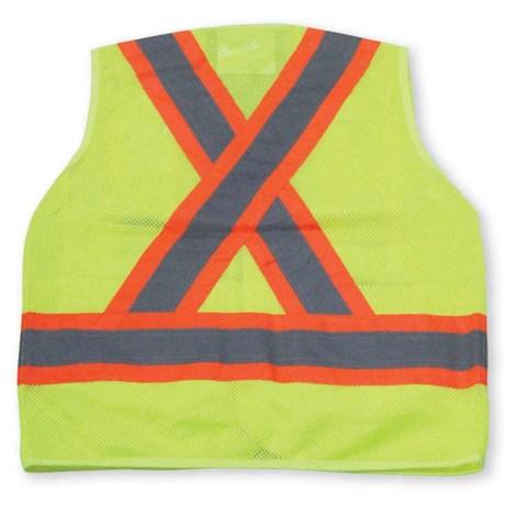 lime mesh vest back