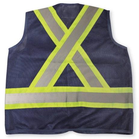 navy mesh vest back