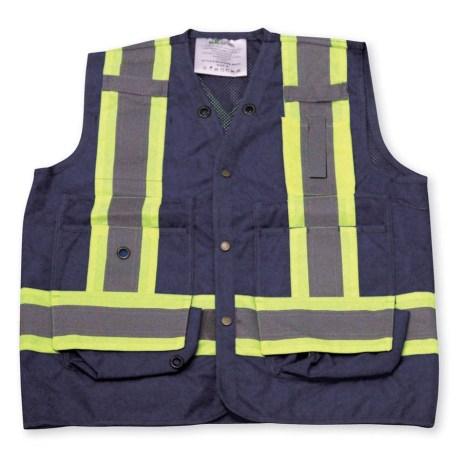 navy mesh vest