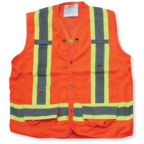 orange mesh vest