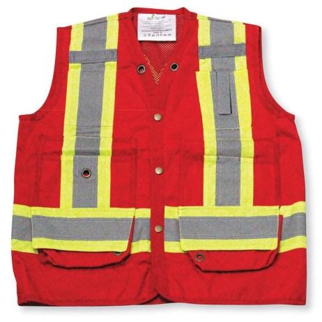 red mesh vest