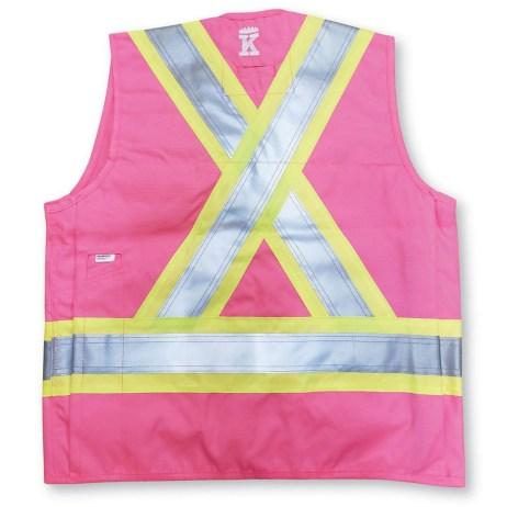 pink surveyor vest back