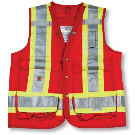 red surveyor vest
