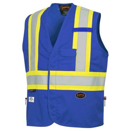 blue fr hi-viz vest