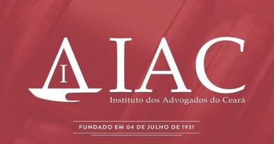 Postagem do Instituto dos Advogados do Ceará