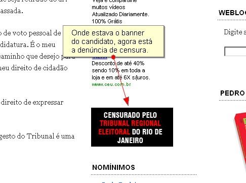 Censura no Blog de Pedro Dória