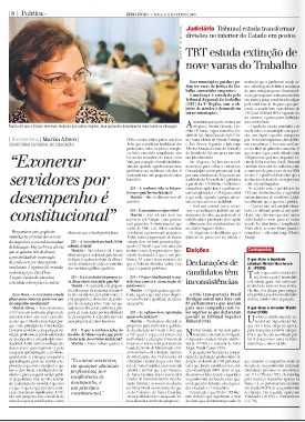 TRT estuda extinção de nove varas do Trabalho (ZH 17/02)