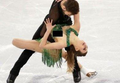 """Atleta """"paga peitinho"""" na patinação artística"""