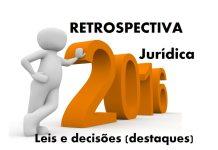 Retrospectiva Jurídica 2016