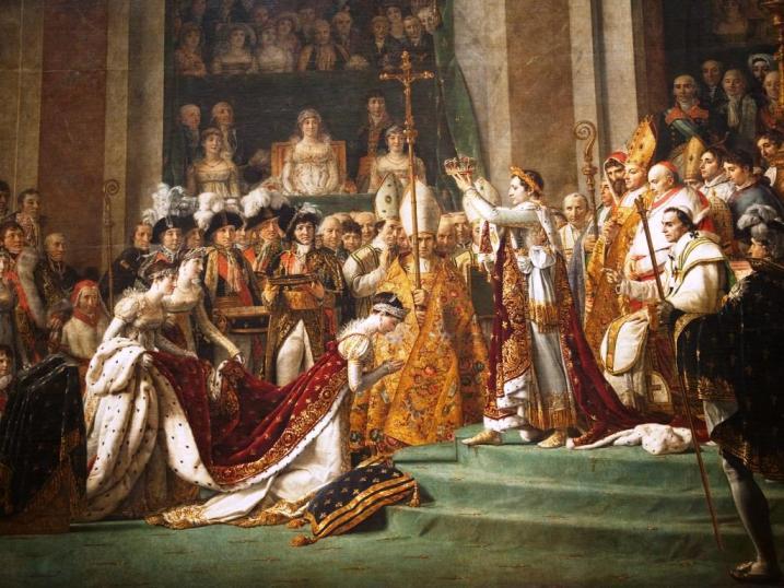 Coroação Napoleão Bonaparte Josefina Jacques Louis David - detalhe