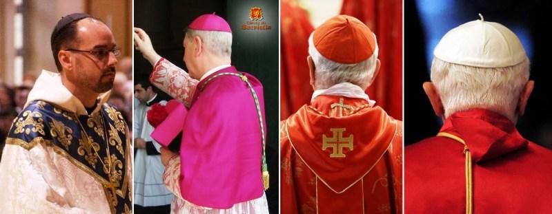 Prelados abade bispo cardeal papa solidéu
