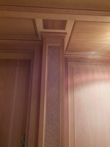 Library burl column insets
