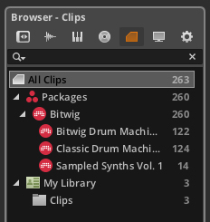Browser - Clips