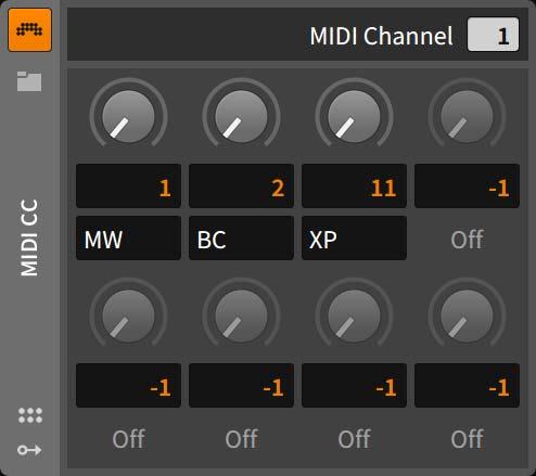 MIDI CC