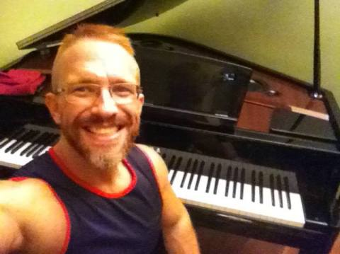 First selfie with the new piano in situ!