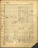 Manuscript of Bruno Walter's Symphony No. 1. Some handwriting, no?