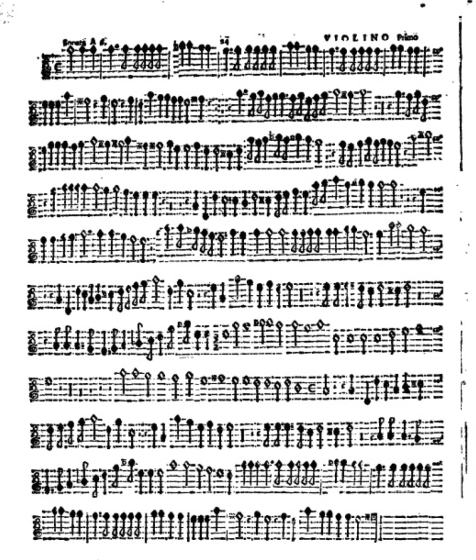 The 1636 edition of Buonamente's Sonatas and Canzonas for 2, 3, 4, 5, and 6 Voices. These old editions didn't come with scores, just individual part books.