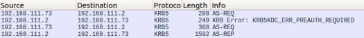 Kerberos TGT request