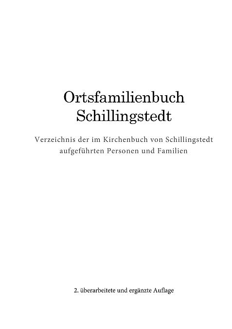 Ortsfamilienbuch Schillingstedt