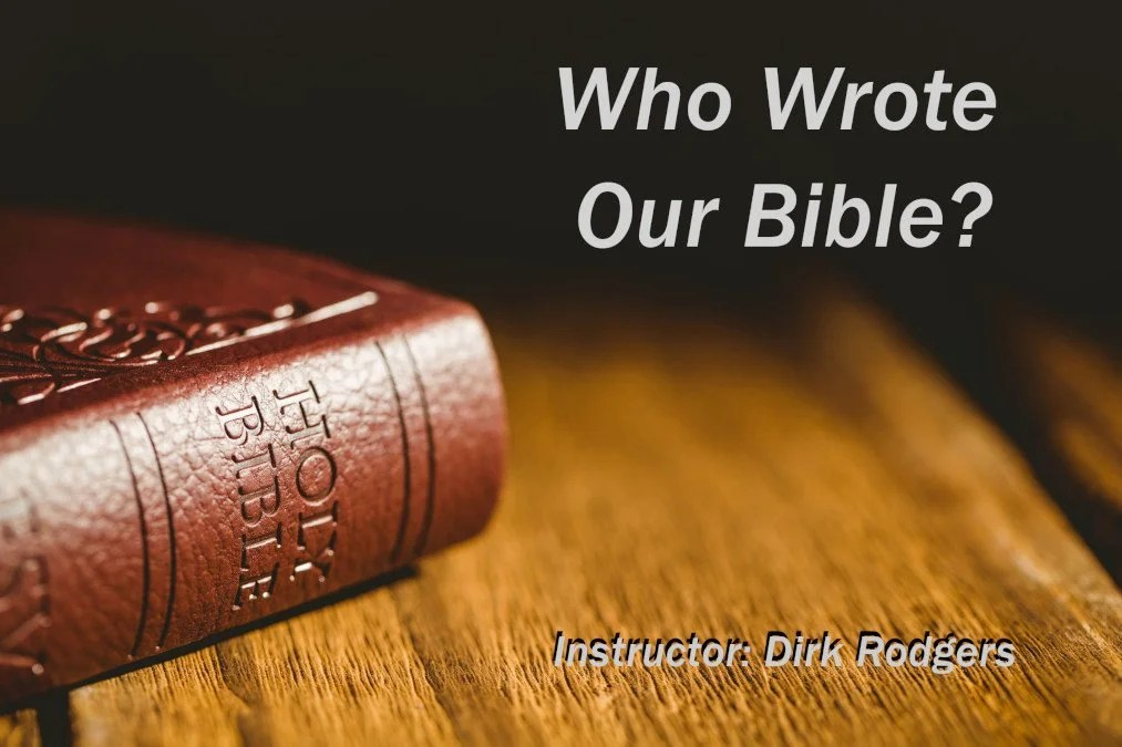 Who Wrote Our Bible Image