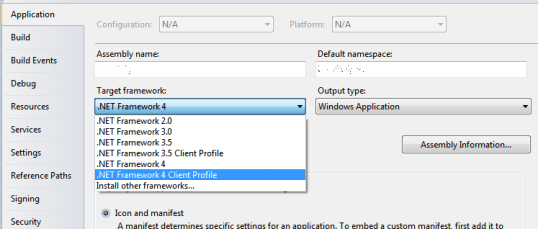 Log4Net Visual Studio Framework