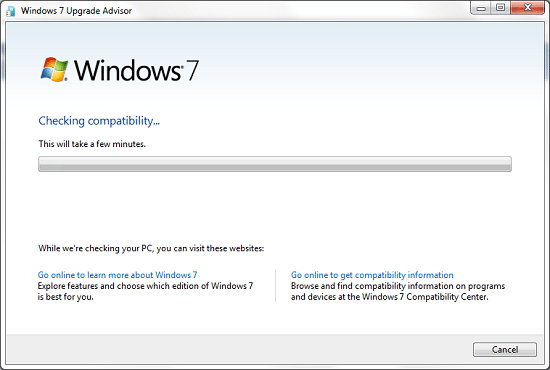 windows 7 upgrade advisor tool