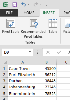 Office Excel 2013 Data Entry
